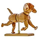 US Art Supply Artist Drawing Manikin Articulated Wooden Mannequin (Dog)