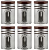 INNOPAC HOME LINE Steel Jar Set, 1.2 L, 6 - Piece, Silver