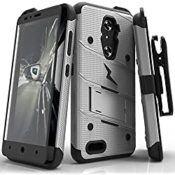 ZTE ZMax Pro Case, Zizo [Bolt Series] w/FREE [ZMax Pro Screen Protector] Kickstand [12 ft. Military Grade Drop Tested] Holster Clip- Grand X Max 2