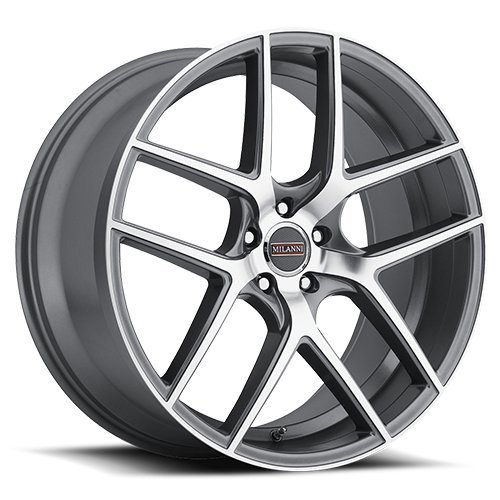 Milanni 9052 Tycoon Wheel with Machined Finish and Graphite Mirror