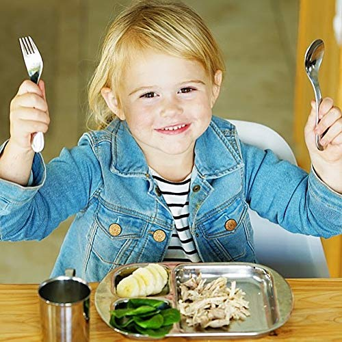 Kiddobloom Kids Stainless Steel Utensil Set Fire Truck Model Spoon, Fork, and Butter Knife 3pc Set Safe Flatware for Toddlers and Kids