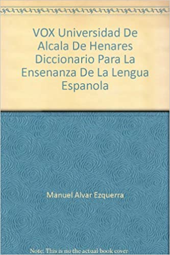 Amazon.com: VOX Universidad De Alcala De Henares Diccionario ...