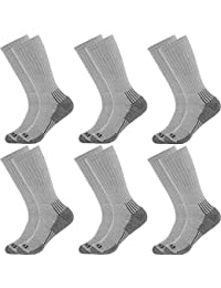 (6 Pairs) Mens Thick Cushioned Industrial Crew Padded Work Socks Shoe 6-12