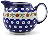 #7: Polish Pottery 9 oz Creamer (Mosquito Theme) + Certificate of Authenticity