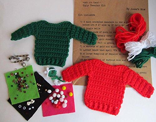 Amazoncom Ugly Sweater Kit Holiday Craft Kit Diy Ugly Sweater