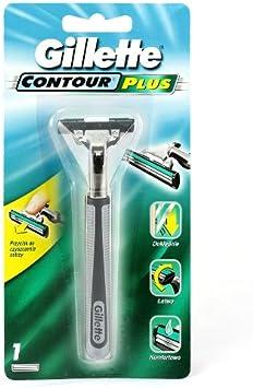 Gillette Afeitadora Contour Plus-Lote de 2: Amazon.es: Salud y ...