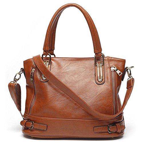 Yiuswoy Elegant Damen Puleder Handtasche Mit Reissverschluss Buro