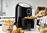 Gourmia GAF365 2.2 Qt Digital Air Fryer - Oil Free Healthy Cooking - 1 Touch Simple Settings - Sleek Compact Design - Removal Basket - Free Recipe Book Included