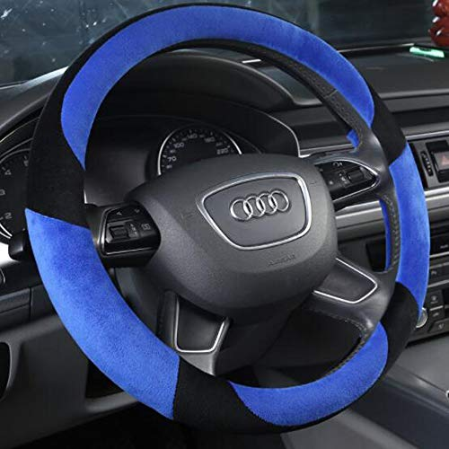 Carmen Stitch Car Auto Steering Wheel Cover Heated 2019 New Skidproof Padded Soft Snug Grip Wheel Cushion Protector Universal 15 Inch (Blue) ()