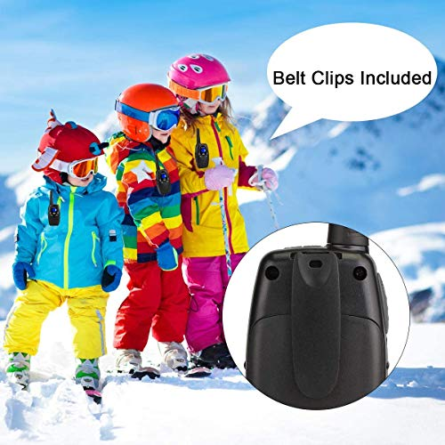 Retevis RT628 Walkie Talkies Rechargeable Long Range, Toys for 3-12 Year Old Boys Girls, 22 CH VOX Handfree,for Kids Family Adults Adventure Camping Hiking (Black, 2 Pack)