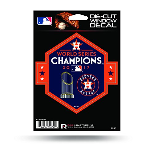 Rico Tag Express MLB Houston Astros World Series Champions Die Cut (Houston Astros Die Cut Decal)