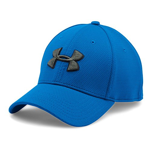 Under Armour Men's Blitzing II Stretch Fit Cap, Blue Marker /Downtown Green, Large/X-Large