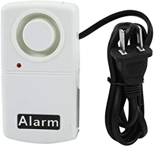 Power Failure Alarm Power Outage Alarm Automatic Power Cut Failure Alarm 120db Home Security LED Indicator Outage Alarm Warning Siren White