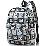 """Lightweight Travel Mini Backpack for Women and Teens (Beach White Small) 14 <p>MEDIUM size 15-inch backpack. Please note there are two sizes: small and medium. This medium-sized backpack is 15.5"""" tall x 11.5"""" wide x 6.3"""" deep. Binders, folders and laptop computers will fit. See pictures and description for reference and further details. POCKETS. Two side pockets for water bottles, sun-glasses, etc. Front zippered pocket for small items such as pens, phone, etc. Large main compartment with heavy-duty double zippers for big items such as laptop, binder, books, notebook, folder, and more. PERFECT for laptop. Convenient internal sleeve is ideal for a 14-inch laptop computer, tablet or iPad. Perfect fit for MacBook, MacBook Air or MacBook Pro 13-inch. Maximum laptop size is about 13-1/2"""" x 10"""" x 1"""" thick. DURABLE and PRACTICAL. Heavy-duty 600 denier oxford canvas exterior with padded back. 210 denier oxford interior lining. Adjustable foam-PADDED SHOULDER STRAPS fit all sizes from small teens to full-grown adults. OTHER USES: Lightweight carry on travel bag, ladies large backpack purse, cute preschool diaper bag, elementary school student bookbag, hiking, picnic etc.</p>"""