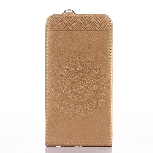 Funda para iPhone 8Plus, iPhone 7Plus Carcasa Cuero, CLTPY [2 en 1, Separable] Cubierta de Billetera Estilo Libro con Diseño de Mandala 3D para Apple iPhone 7Plus/8Plus + 1 x Lápiz Gratis - Rosa Rosa Oro B