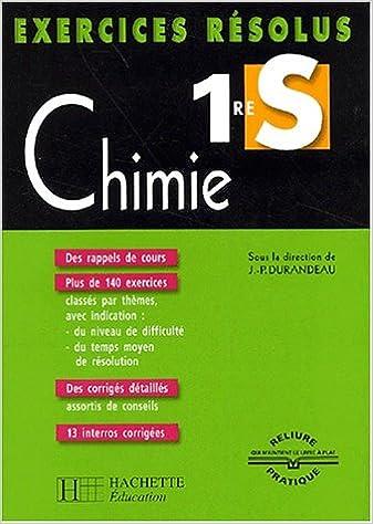 En ligne téléchargement Exercices résolus : Chimie, 1ère S pdf