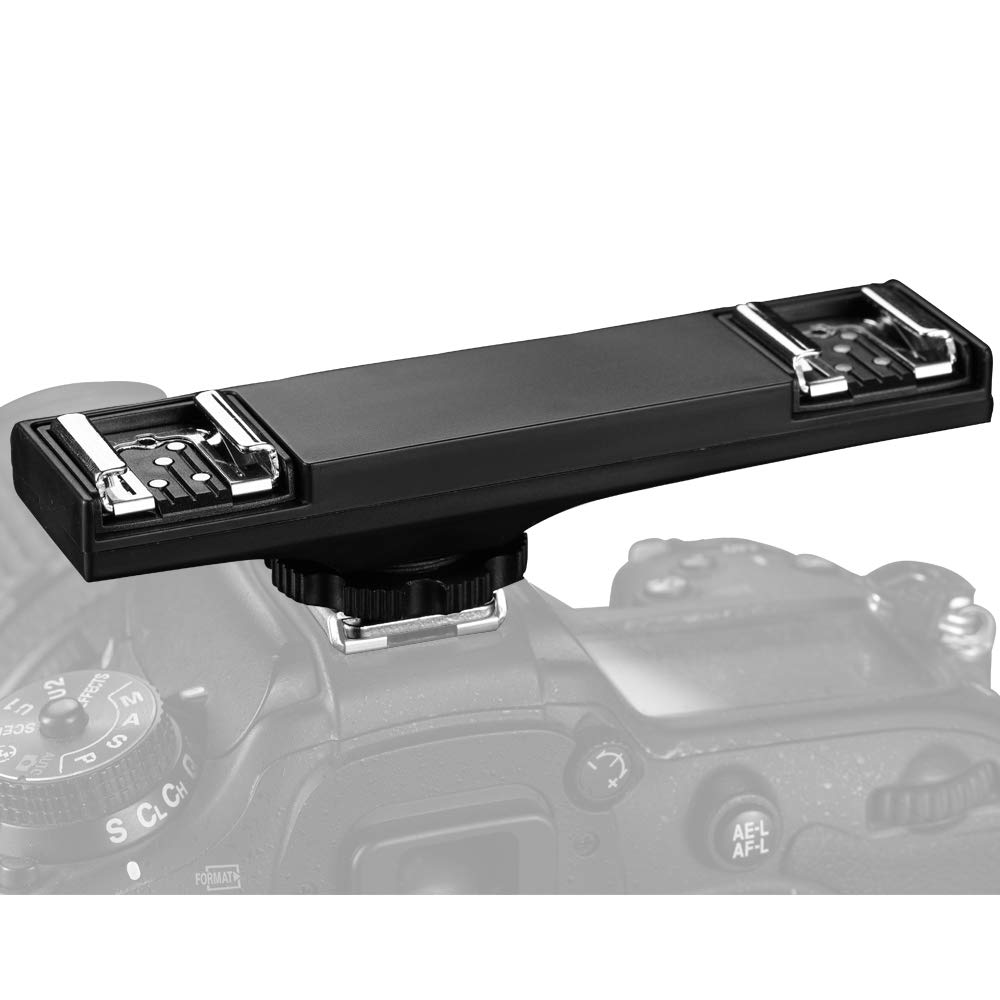 SUPON I-TTL Dual Hot Shoe Flash Speedlite Light Bracket Compatible for Nikon DSLR Camera and Other LED Video Light,Microphone,Monitor,Flash Speedlite,Camcorder,Photo Studio by SUPON