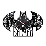 Cheap Batman Handmade Vinyl Record Wall Clock Fun gift Vintage Unique Home decor