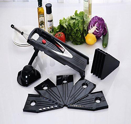 urban-depot-chef-grade-mandoline-v-blade-slicer-5-interchangeable-blade-insertsgratercutterhand-guar