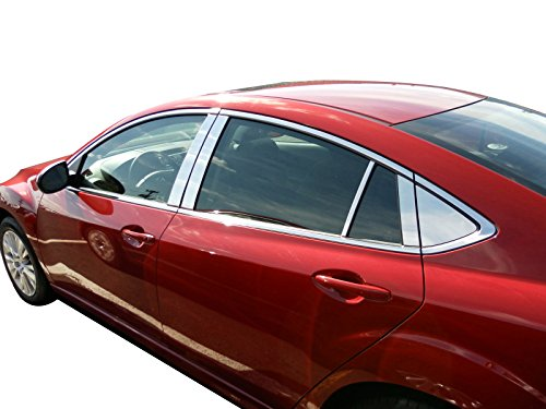 Exterior ITEM# S-BKLE10A-MF Buick Lacrosse, Stainless Steel Pillar Posts Overlay, 6 Piece Set, Chrome Finish