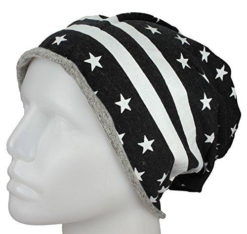 bandera Jersey de rodó Gorra la de barras y UU estrellas EE gorrita Longo las Negro con SxdxqpwzF