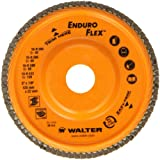 Walter Enduro-Flex Abrasive Flap Disc, Type 29, 5/8''-11 Thread Size, Trimmable wood fiber Backing, Zirconia Alumina (Pack of 10)