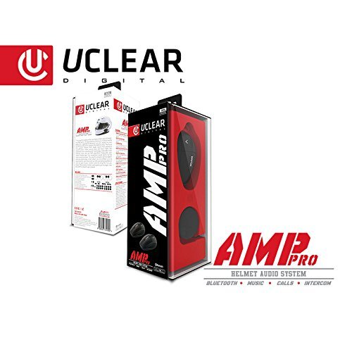 UCLEAR Digital AMP Pro Bluetooth Helmet Audio System for Motorcycle, ATV, UTV and other Powersports Helmets - Dual Kit