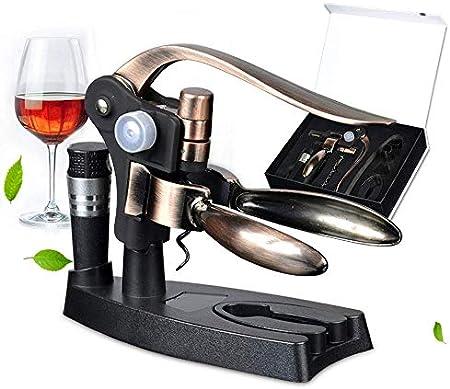 BGSFF Abridor de Botellas de Vino, abridor de Botellas de Vino Tipo Conejo de aleación de Zinc, Juego de Caja de Regalo con abridor de Botellas de Vino Manual, Conveniente y Duradero, AB