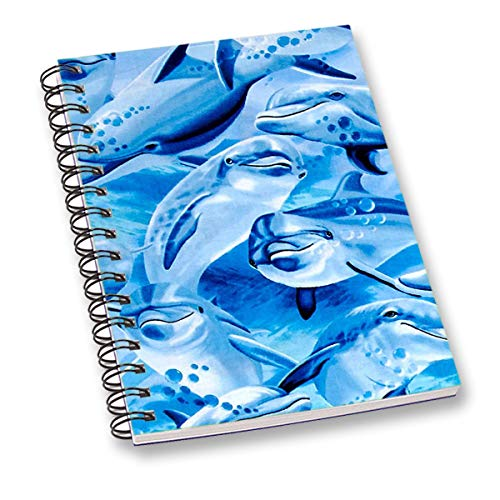 RADANYA Notebook Sky Blue Dolphin Digitally Printed Wire Bound Paper Sheet A5 Sheet Diary School or Office Stationary