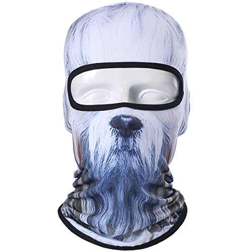 JIUSY Animal Balaclava Face Mask Breathable Speed Dry Outdoor Sports Riding Ski Head Cover Motorcycle Cycling UV Protection Helmet BNB72
