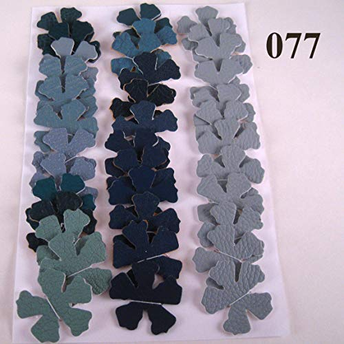 36 Vinyl Die Cut Flowers blue grey green from Suzanne Medrano