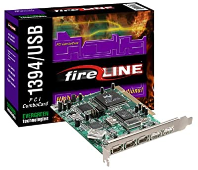 Evergreen PCI Combo Card 6 Port Firewire and USB Interface from EVERGREEN TECHNOLOGIES