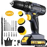 Holife 20V Cordless Drill 2.0Ah Lithium-ion Battery Drill/Driver, Compact Drill Kit with LED