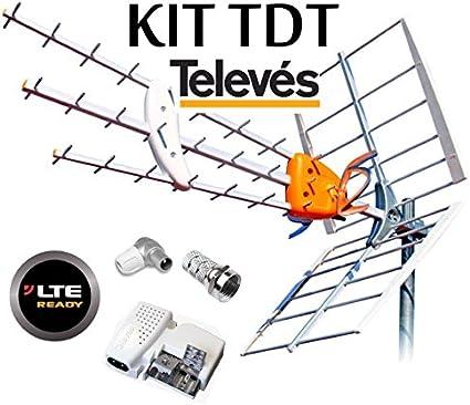 Televes Antenne Kit Boss 790 Hd Lte Et Filtre Après Mrd Intelligent Source Dalimentation Pour 5795 Et Connecteurs