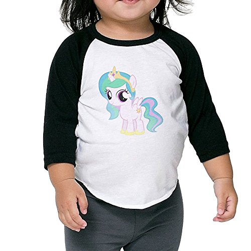 My Little Pony Princess Celestia Child 3/4 Sleeve Raglan Shirts For Kids (My Little Pony Princess Mi Amore Cadenza)