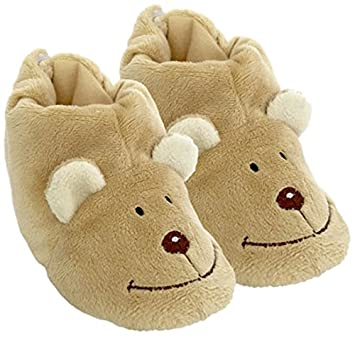 Peluches Cel Zapatillas oso de peluche, color marrón (MAE 256oso)