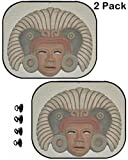 MSD Car Window Shade for Backseat (NOT Windshield) - Block Sun Glare and UV Ray for Your Child - 2 pc - Image ID: 38513807 Mexican Aztec mask