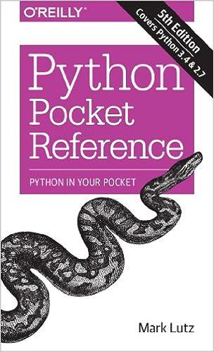 Python Pocket Reference Python In Your Pocket
