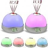 LiPing 7 Colors LED Change Star Sunrise Alarm Clock -Night Light Magic Projector Backlight (A)