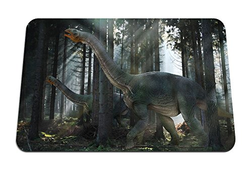 Dinosaur Mesozoic era Walk Forest Mouse Pad - Gaming Mousepad 10.2 x 8.3 inches (Mesozoic Era Dinosaur)