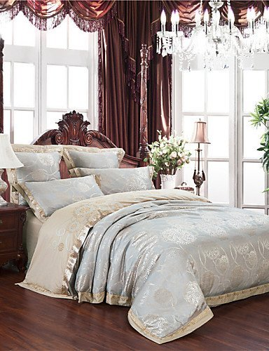 ZQ Fashion personality style New Arrivals Silver Gray Bedding Gifts Home Textiles Smooth Touch Comforter Set for Bedroom Queen King , king by Bedding ZQ (Image #4)'