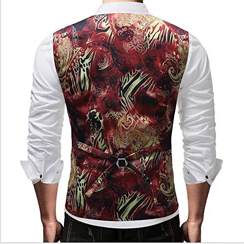 Gilets 1 Hommes coloré Soirée L 1 M Boutonnage Fuweiencore Costume Slim Mariée Fit Taille Robe Simple Taille De Gilet couleur zxOaqw