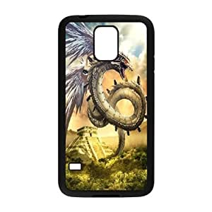 Samsung Galaxy S5 Phone Case Black Ancient Dragon VJN341513