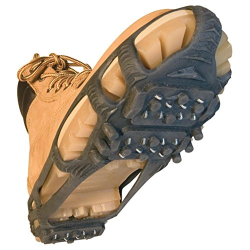 STABILicers Walk Traction Ice Cleat and Tread for Snow & Ice, 1 pair Large (10.5-13 Men) Black