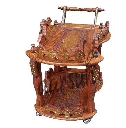 Aarsun Woods Handmade Handcrafted Wooden Service/ Bar Trolley