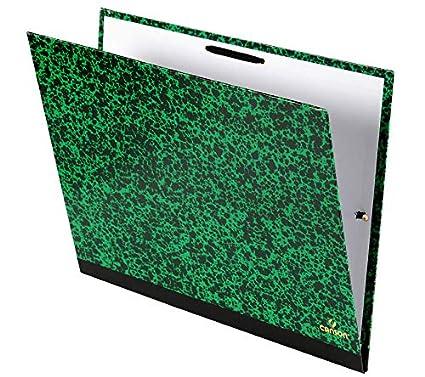 Canson 200003112 Negro Carpeta Verde 1 unidad Negro, Verde, Banda el/ástica, Hoja, 260 mm, 330 mm