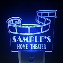 wsph-tm Name Personalized Custom Home Theater Bar Day/ Night Sensor LED Sign