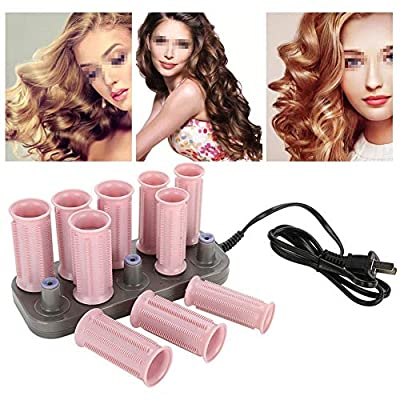 Professional Electric Heated Roller,Curling Roller,Classic Hair Style Tool for Short Hair and Long Hair(10 Piece Pink Heat Roller + 1 Piece Bag)