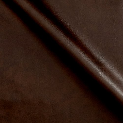 Match Brown Vinyl Leather (Plastex Fabrics Faux Leather Caprice Brown Fabric by The Yard, Brown)