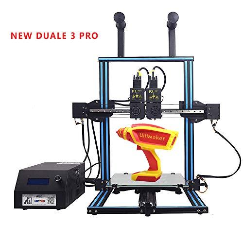 (HICTOP DUALE 3 Pro Independent Dual Extruder 3D Printer - Two Colors Printing Prusa I3 Desktop 3D Printer Print Size 11.8